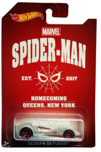 2017 Hot Wheels Marvel Spider-Man Homecoming Scoopa Di Fuego