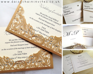 Details About Wedding Invitations Cheap Personalised Wedding Invites Free Envelopes From 60p