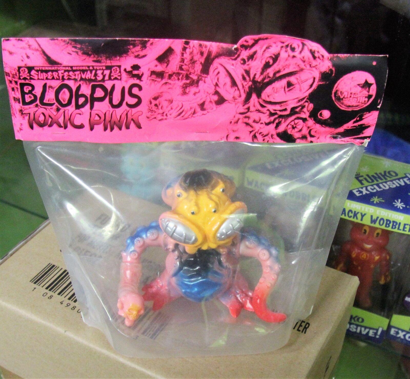 Japan Toy super festival Blobpus Toxic Rosa paint pvc Sofubi Kaiju NIB