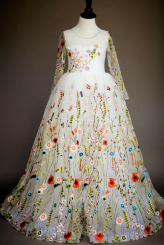 New Girl/'s Princess Wedding Formal Bridesmaid High Quality Performance Dress ZG8