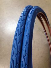 (2xTires) 700x35c BLUE Bicycle Tires- Fixie, Road Bike, Hybrid