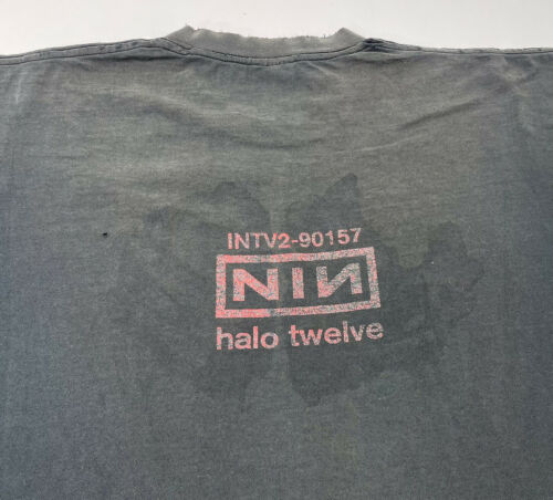 Rare Vintage Nine Inch Nails NIN T-Shirt Closure H