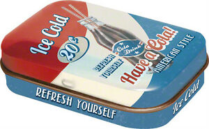 Retro-Tin-Metal-Pill-Box-HAVE-A-COLA-with-Mints-6-x-4cm-Vintage-Americana-Ice
