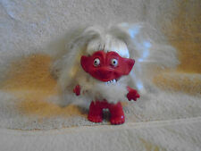 Dam Vintage Red White Bearded Troll Doll  3 inch very rare