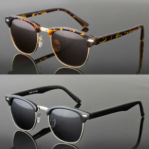 Polarized Clubmaster Sunglasses Men/'s Women/'s Half Frame Vintage Designer