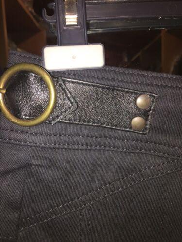 46 Tg Pennyblack pelle Profili in Cropped Black tz76q