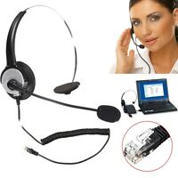 RJ11 Noise Cancelling Microphone Headset Call Center Telephone Headphone Office