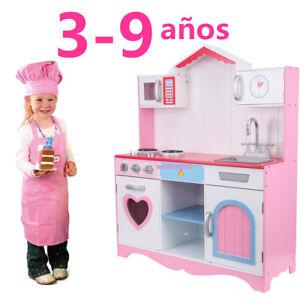 Rosa Cocinita De Juguete Madera Juegos Educativos Para Ninos Ninas