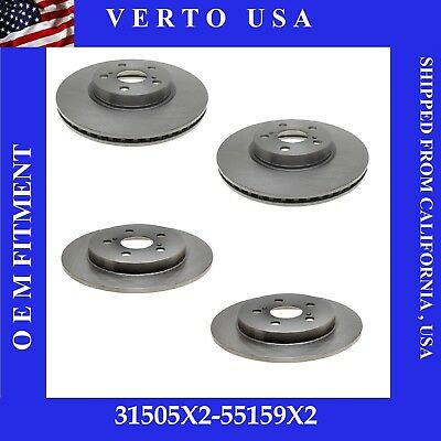 Front Brake Rotors Rear Brake Drums For Toyota Corolla 2009-2010-2011 to 2019