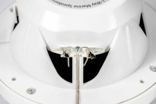 "Belva BBMS65W 6.5"" 2-Way 400W White Marine Coaxial Speakers UTV//ATV// Motorcycles"