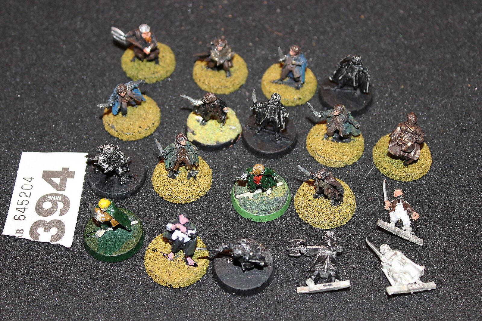 Games Workshop Lord of the Rings Halflings Job Lot Fellowship 19 Metal Figures