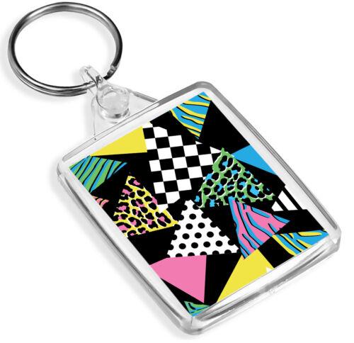 Polka Dot Checkers Awesome Gift #14224 IP02 Funky Retro Pattern Keyring