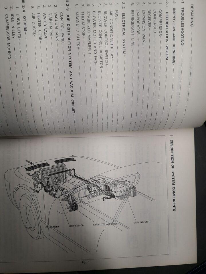 (83)Reparationsbog, Toyota Crown aircondition