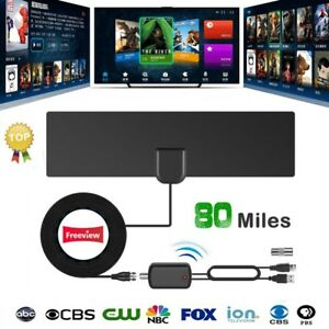 digital tv antenna signal amplifier booster free tv radius. Black Bedroom Furniture Sets. Home Design Ideas