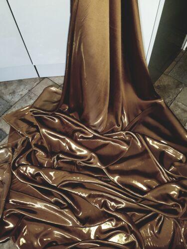 """Vestido de tela de decoración 58/"""" 5M Satén Brillo Suave Sedoso marrón moca"""