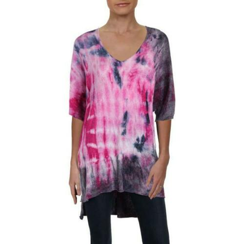 Free People Womens Crushed Galaxy Tunic Top Tie Dy