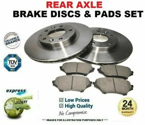 Rear Axle BRAKE DISCS and brake PADS SET for BMW 5 545 i 2003-2010