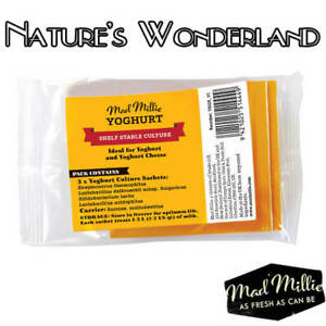 YOGHURT-Dairy-Free-CULTURE-5-Sachets-100-Million-PROBIOTIC-Bacteria-Mad-Millie