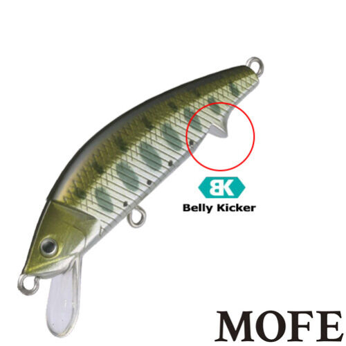 50 mm  various colors Native trout sinking minnow Supremo Mofe 50MS 6 g