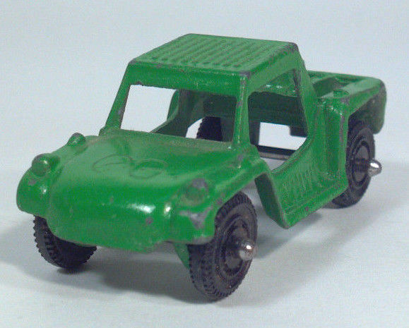 Vintage Tootsietoy Baja Run About Sand Dune Buggy Scale Model Die Cast Metal Grn