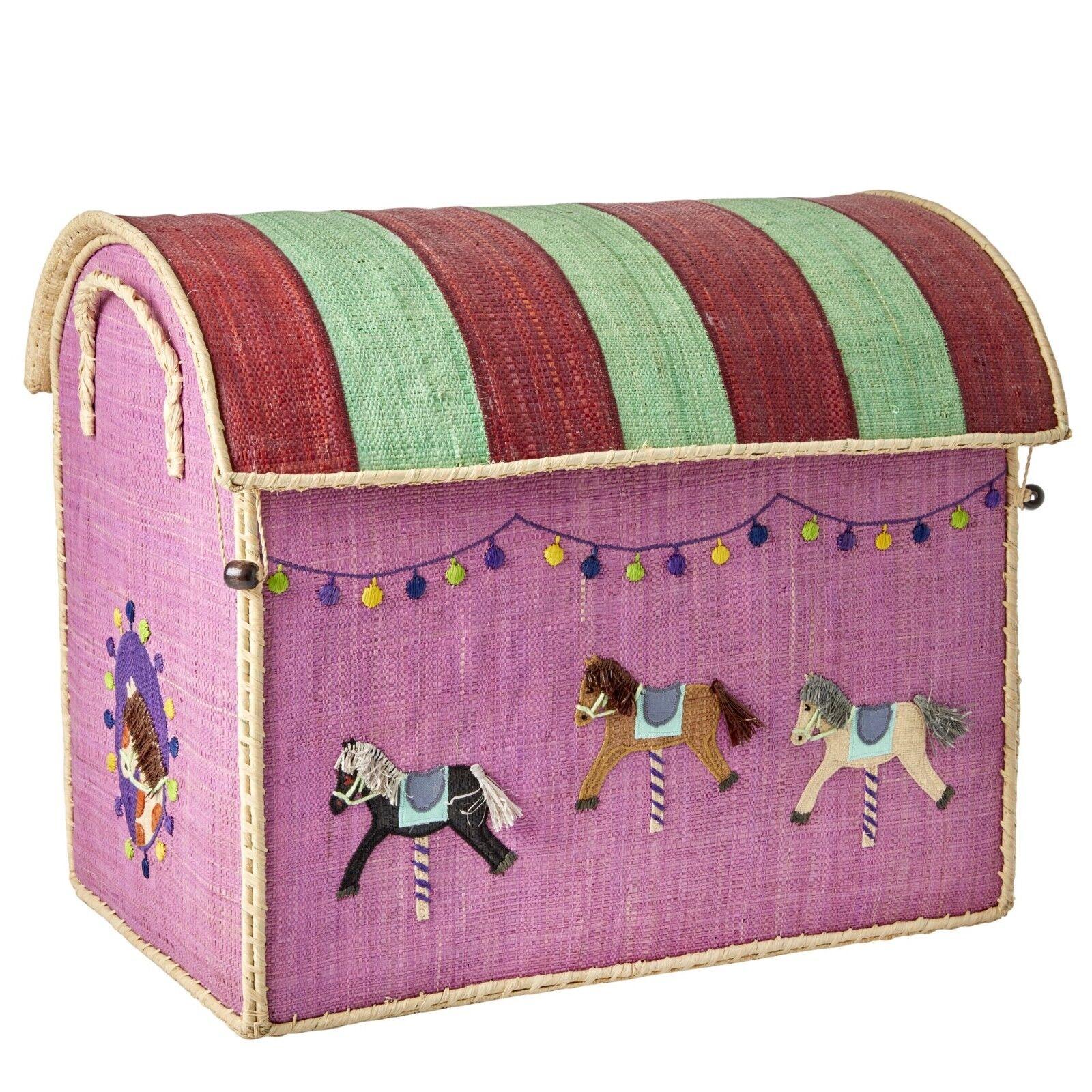 NEU  RICE Spielzeugkörbe  Carousel , Größe L