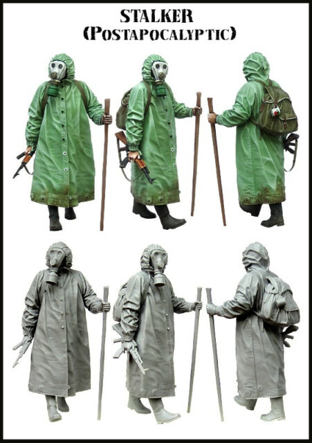 1:35 Scale STALKER Soldier Machine Gun Resin Figure Model Kit Unpainted Figures