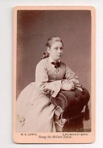Vintage-CDV-Unknown-Girl-Walter-G-Lewis-Photo-England