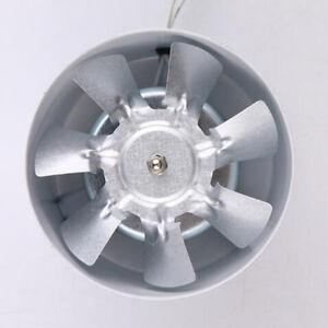 Inline Exhaust Fan 4 100mm 20w Vent Duct Extractor Fan Ventilation White Ebay
