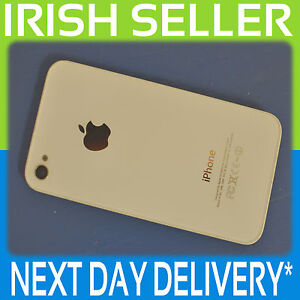APPLE-IPHONE-4S-A1387-GENUINE-WHITE-BATTERY-BACK-COVER-GLASS-DOOR-CASE