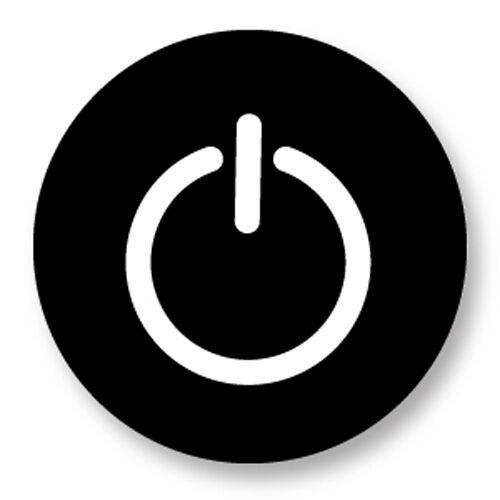 Porte clé Keychain Ø45mm Symbole Signe Embleme Image Logo Bouton On Off Start