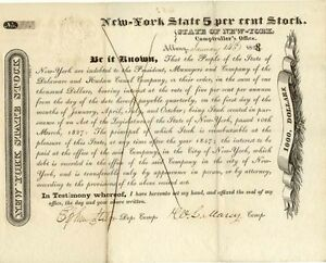 New-York-State-bond-signed-by-Comptroller-William-Learned-Marcy-January-1828