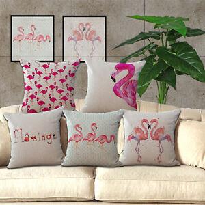 UK 2017 Retro Cover Home Decor Cushions Flamingo Car Throw