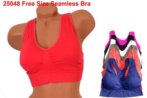 Quality Lot 1 3 or 6 pcs Yoga Gym Cropped top Tank Top Seamless Sports Bra S//M//L
