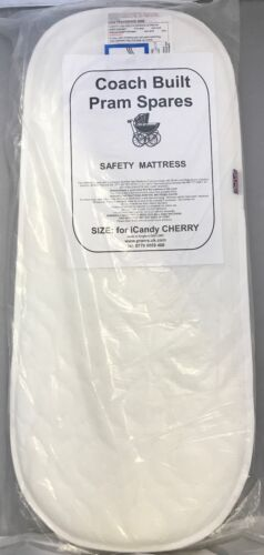 iCandy Cherry Carry Cot DELUXE QUILTED PRAM SAFETY MATTRESS Removable Cover