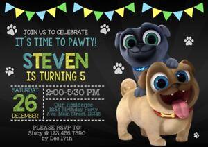Puppy Dog Pals Digital And Printable Birthday Invitations