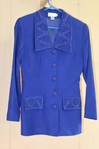 Anne French Vintage 80s does 40s Jacket Rayon Line