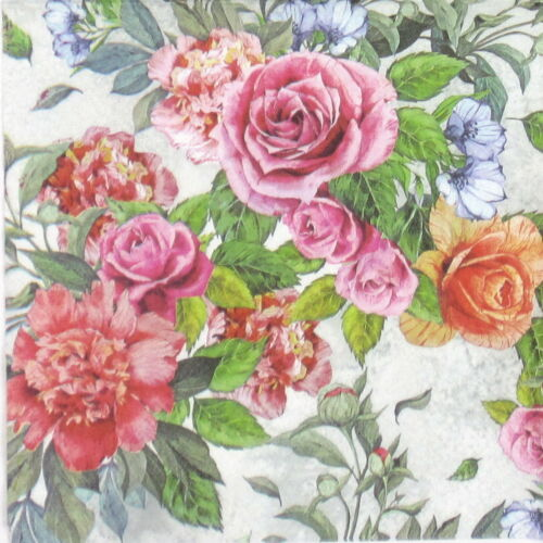 4x Paper Napkins for Decoupage Decopatch Vintage Bulk Flower