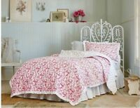 Simply Shabby Chic Red Country Paisley Twin Quilt