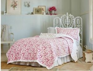 Simply Shabby Chic Red Country Paisley KING Quilt