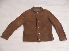 Vintage 1920s 1930s Suede Leather A-1 Aviator Motorcycle Jacket Size MEDIUM