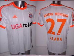 cheap for discount 370a4 04731 Details about Bayern Munich Shirt ALABA Jersey Trikot Adidas Medium  Football Soccer Munchen