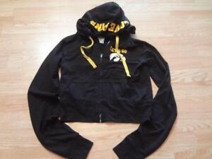 Women-039-s-Iowa-Hawkeyes-S-Hoodie-Hooded-Sweatshirt-Jacket-PINK-Victoria-039-s-Secret
