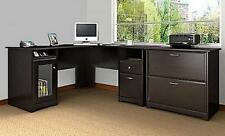 L Shaped Corner Desk Computer Home Office Furniture Table Executive Workstation