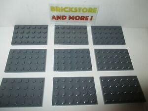 Lego Choose Quantity Plate Plaque 4x4 3031 Old Dark gray//gris//grau