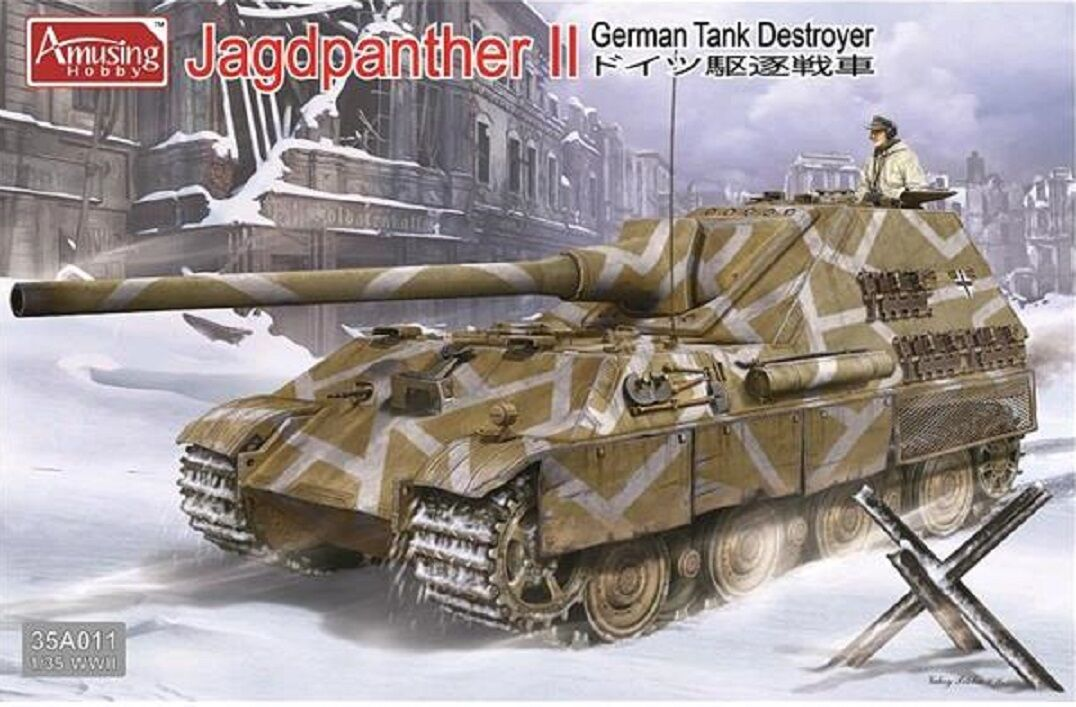 AMUSING HOBBY JAGDPANTHER II GERMAN TANK DESTROYER Scala 1 35 Cod.35A011