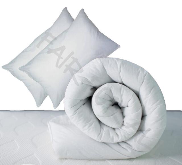 New Duvet & 2 Pillows - Single Double King 10.5 / 13.5 / 15 tog Quilt