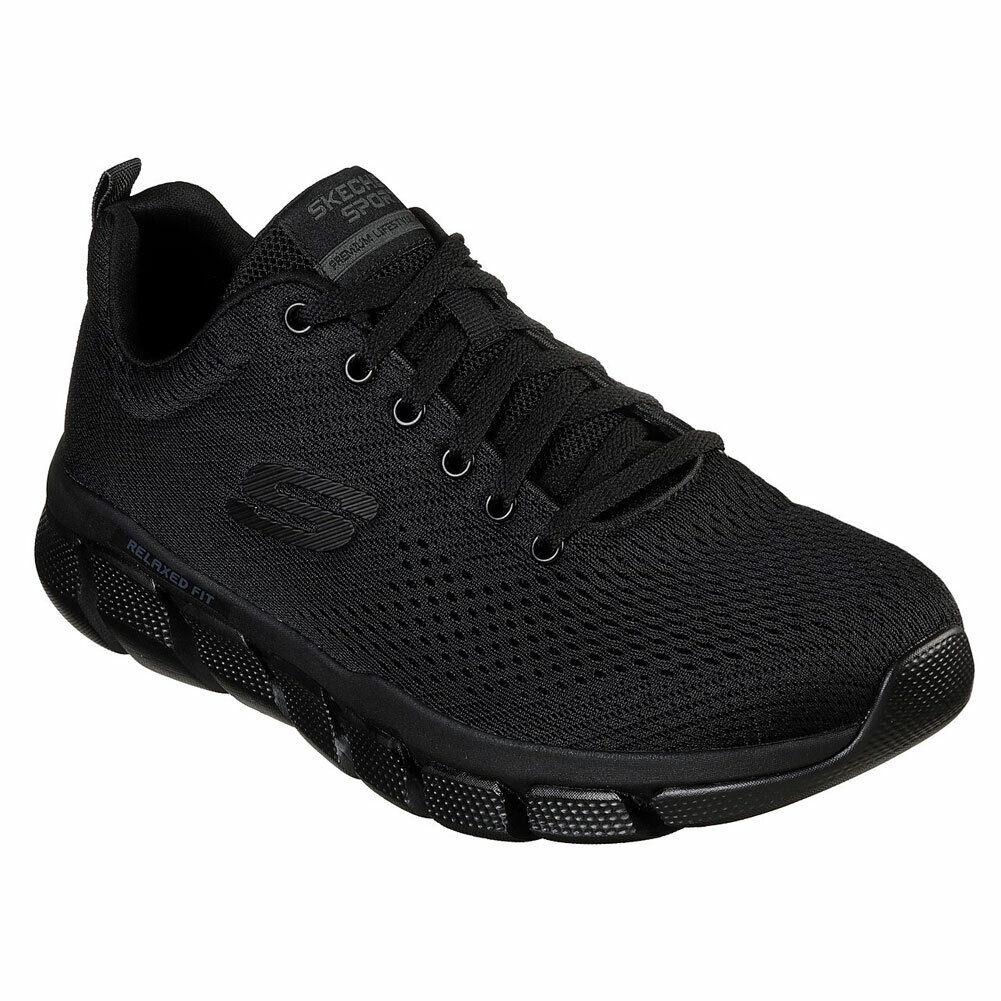 Skechers men's skech flex 3 piece casual low top trainers shoes black