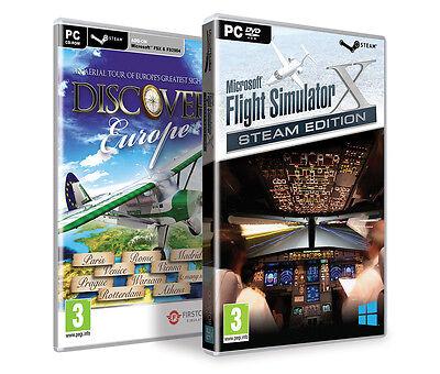 Microsoft Flight Simulator X Deluxe & Acceleration & Discover Europe, FSX Steam