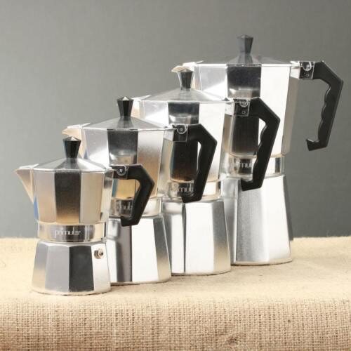 Aluminum Stovetop Espresso Coffee Maker Latte Moka Pot Percolator 1//3//6//9//12 cup