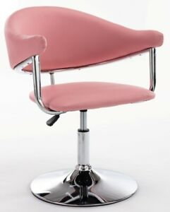 Blush Pink Padded Leather Style Barber